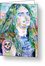 Cliff Burton Portrait.1 Greeting Card by Fabrizio Cassetta