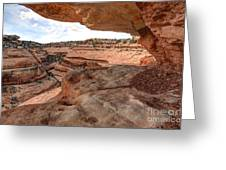 Cliff Overhang In Southwest Sandstone Canyon - Utah Greeting Card by Gary Whitton