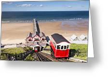 Cliff Railway Saltburn By The Sea Greeting Card by Colin and Linda McKie