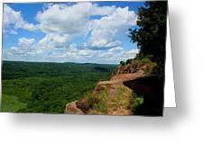Cliffside Vista Greeting Card by Stephen Melcher