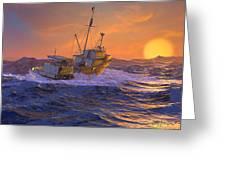 Climbing The Sea Greeting Card by Dieter Carlton