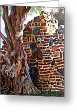 Clinker Wall Greeting Card by LaVonne Hand
