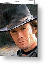 Clint Eastwood Greeting Card by James Shepherd