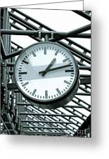 Clock Greeting Card by Design Windmill