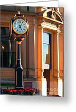 Clock Of New Brunswick Greeting Card by Gena Weiser