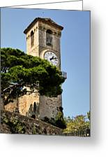 Clock Tower - Cannes - France Greeting Card by Christine Till