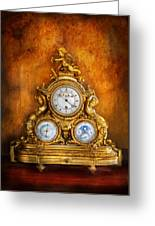 Clockmaker - Anyone Have The Time Greeting Card by Mike Savad
