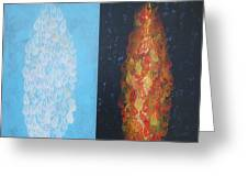 Cloud by Day Fire by Night Greeting Card by Mordecai Colodner