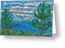 Cloud Color Greeting Card by Kendall Kessler