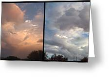 Cloud Diptych Greeting Card by James W Johnson