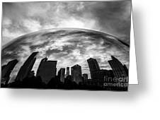 Cloud Gate Chicago Bean Greeting Card by Paul Velgos