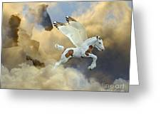 Cloud Mother Greeting Card by Judy Wood