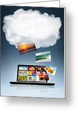 Cloud Technology Greeting Card by Carlos Caetano