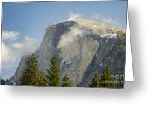 Clouds around Half Dome  Greeting Card by Jim and Emily Bush