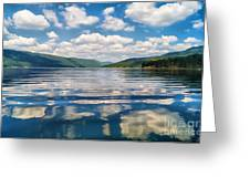 Clouds In The Water Greeting Card by Stela Taneva