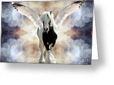 Clouds Of Glory Greeting Card by Judy Wood
