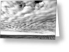 Clouds Over A North Dakota Field Greeting Card by Jeff  Swan