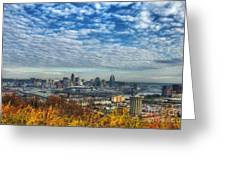 Clouds Over Cincinnati Greeting Card by Mel Steinhauer