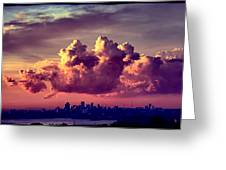 Clouds Rolling Greeting Card by Andrei SKY