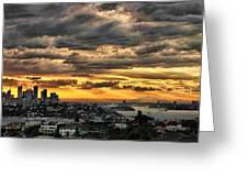 Clouds Rose Over The City Greeting Card by Andrei SKY