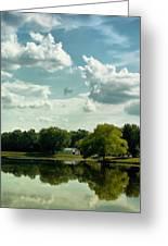 Cloudy Reflections Greeting Card by Kim Hojnacki