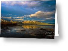 Cloudy Sunrise Greeting Card by Mitch Shindelbower