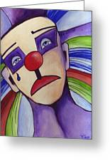 Clown Nez Rouge Greeting Card by Mirko Gallery