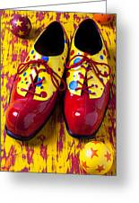 Clown Shoes And Balls Greeting Card by Garry Gay