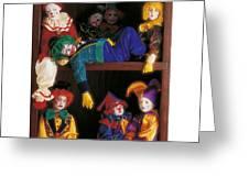 Clowns Greeting Card by Anne Geddes