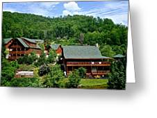 Cluster Cottages Greeting Card by Frozen in Time Fine Art Photography