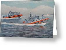 Coast Guard Lri And Rb-m Greeting Card by William H RaVell III