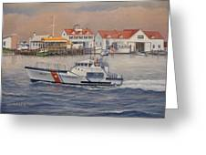Coast Guard Station Greeting Card by William H RaVell III