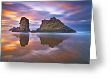 Coastal Cloud Dance Greeting Card by Darren  White