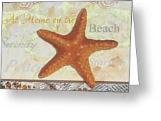 Coastal Decorative Starfish Painting Decorative Art By Megan Duncanson Greeting Card by Megan Duncanson