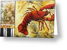 Coastal Lobster Decorative Painting Original Art Coastal Luxe Lobster By Madart Greeting Card by Megan Duncanson