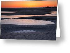 Coastal Ponds At Sunrise Greeting Card by Steven Ainsworth