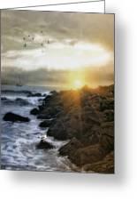 Coastal Sunrise Greeting Card by Tom York Images
