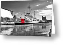 Coastguard Cutter Greeting Card by Scott Hansen