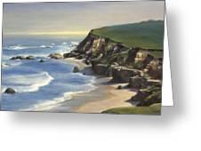 Coastline Half Moon Bay Greeting Card by Terry Guyer