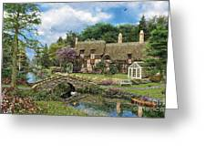 Cobble Walk Cottage Greeting Card by Dominic Davison