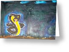 Cobra Oil Painting Greeting Card by William Sahir House