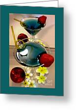 Cocktail By The Spa Greeting Card by Kaye Menner