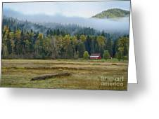 Coeur D Alene River Farm Greeting Card by Idaho Scenic Images Linda Lantzy