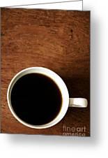 Coffee Break Greeting Card by Birgit Tyrrell