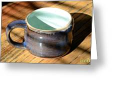Coffee Connoisseur No.2 Greeting Card by Christine Belt