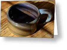 Coffee Connoisseur No.3 Greeting Card by Christine Belt