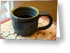 Coffee Connoisseur No.5 Greeting Card by Christine Belt