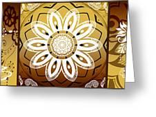 Coffee Flowers Calypso Triptych 2 Horizontal   Greeting Card by Angelina Vick