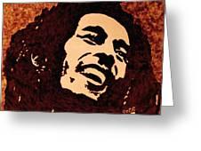Coffee Painting Bob Marley Greeting Card by Georgeta  Blanaru