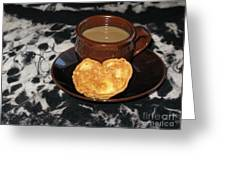 Coffee Served With Love Greeting Card by Ausra Paulauskaite